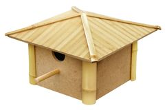 Birdhouse made from bamboo Royalty Free Stock Image