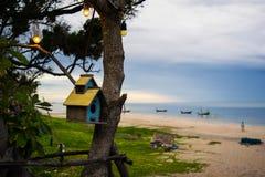 Birdhouse obok oceanu Fotografia Stock