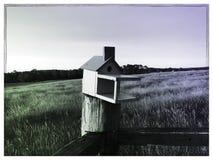 Birdhouse obszary trawiaści Zdjęcie Royalty Free