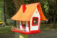 Birdhouse at park Stock Image