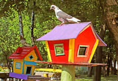 Birdhouse at park Stock Photography