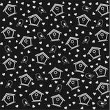 Birdhouse pattern black & white Royalty Free Stock Image