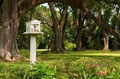 Birdhouse por motivos de uma plantação do sul imagem de stock