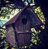 Birdhouse rustico Fotografie Stock Libere da Diritti