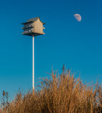 Birdhouse on a Sand dune Royalty Free Stock Photography