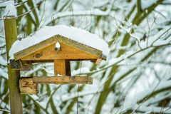 Birdhouse with snow Royalty Free Stock Image