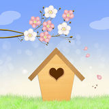 Birdhouse in spring Royalty Free Stock Photography