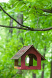 Birdhouse on a stick Royalty Free Stock Photography
