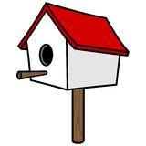 Birdhouse on a Stick Royalty Free Stock Photos