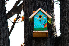 Birdhouse on a tree II Stock Photo
