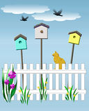 Birdhouse vigil Stock Image