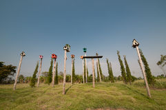 Birdhouse wioska Obraz Royalty Free