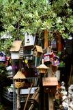 birdhousemarknad Arkivfoton