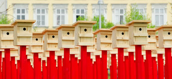 birdhousenr. för 2 konst Royaltyfria Bilder