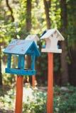 Birdhouses на дереве Стоковое Изображение RF