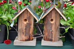 2 birdhouses сада Стоковые Изображения RF