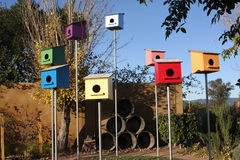 Birdhouses stock photos