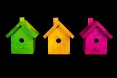 Birdhouses Fotografia de Stock Royalty Free