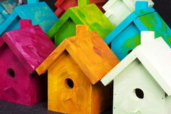 Birdhouses Foto de Stock Royalty Free