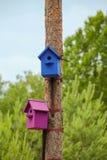 birdhouses royalty-vrije stock afbeelding
