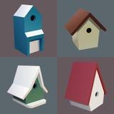 Birdhouses royalty free illustration