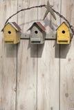 Birdhouses del arte popular Foto de archivo