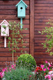 Birdhouses in a garden Royalty Free Stock Image