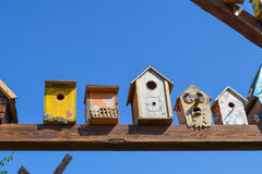 Birdhouses, houses for birds Royalty Free Stock Photography