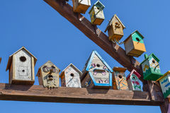 Birdhouses, houses for birds Royalty Free Stock Image