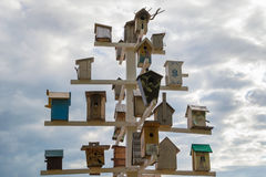 Birdhouses. Lots of birdhouses as multi-storey buildings Stock Photography