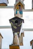Birdhouses. Lots of birdhouses as multi-storey buildings Royalty Free Stock Photos