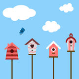 Birdhouses Stock Images