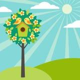 Birdhouses sur des arbres Image stock