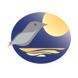 Birdie au clair de lune Image stock