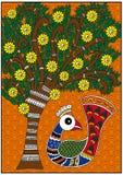 Birdie et arbre d'Inde Photographie stock libre de droits