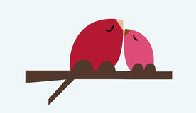 Birdies in love. Royalty Free Stock Photos