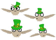 Birdies for a St. Patrick's Day Royalty Free Stock Photos