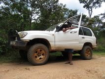 Birding tour transport in Madagascar royalty free stock image