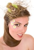 Birdlady of spring Royalty Free Stock Photo