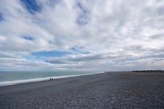 Birdlings piano, spiaggia della Nuova Zelanda, isola del sud Immagini Stock Libere da Diritti