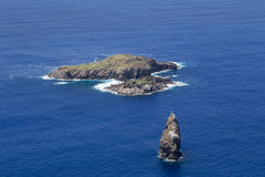 Birdman Islands, Easter Island Stock Image
