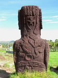 birdman petroglyphs nui moai νησιών Πάσχας rapa Στοκ Εικόνες