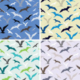 Birds. Abstract seamless pattern Stock Photography