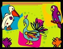 Birds animals vector Stock Photography