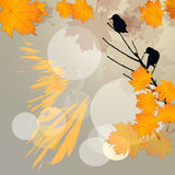 Birds in autumn background Stock Photography