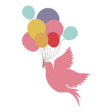 Birds with balloons icon image. Design, illustration Royalty Free Illustration