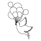 Birds with balloons icon image. Design,  illustration Stock Image