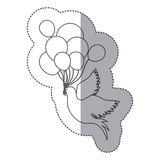 Birds with balloons icon image. Design,  illustration Vector Illustration
