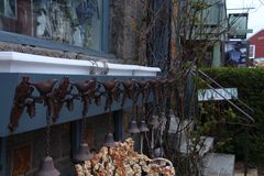 Birds and Bells stock photo