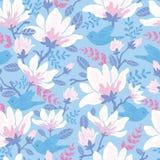 Birds among blossoms seamless pattern background Stock Photo